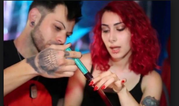 Italy Couple Drinks Each Others Blood To Show