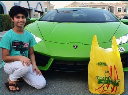 Dubai Supermarket Delivers Mango In Lamborghini