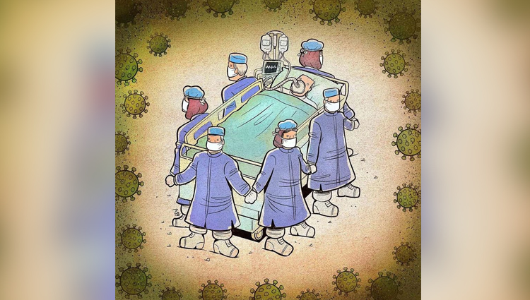 Iranian Artist Show The Harsh Reality Of Doctors During Coronavirus Outbreak Illustrations