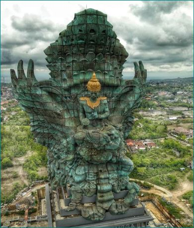 Worlds Tallest Statue Of Lord Vishnu In Indonesia