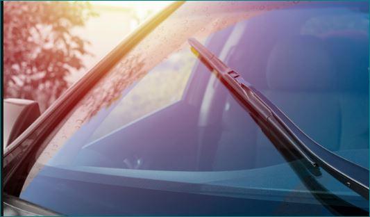 why car windshield Askew