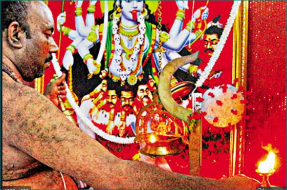 Man Conducts Daily Pujas for Corona Devi in Kerala
