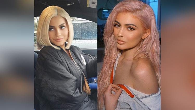 kylie jenner love different hair colour