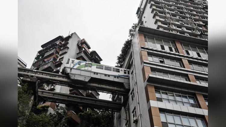 Chongqing China Monorail Line 2 Metro
