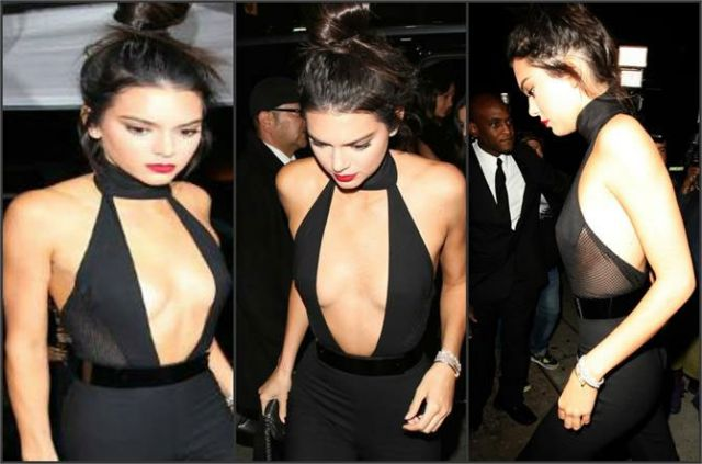 Kendall jenner hot and sexy looking in black dress
