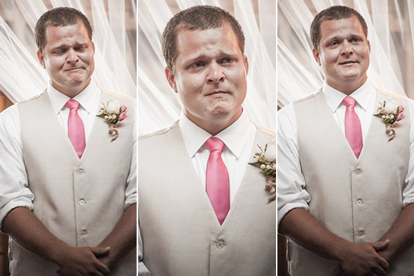 grooms awesome reactions on wedding day