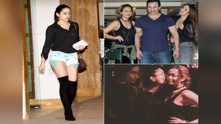 saif ali Khan Daughter Sara Ali Khan Enjoys Party At Kareena Kapoor House