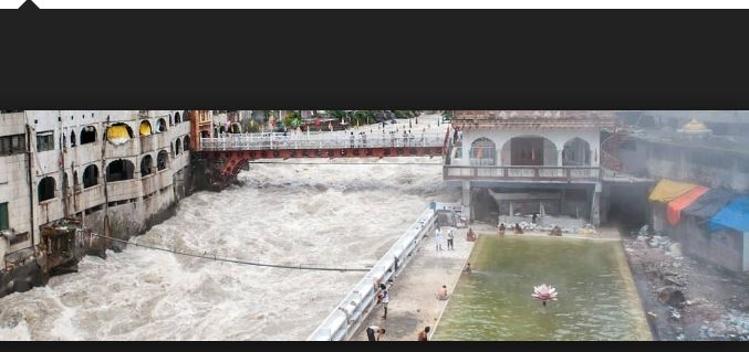 Larger Bathing Pool Near The Parking Stand Manikaran in Parvati Valley Hot Water Spring Sosan India