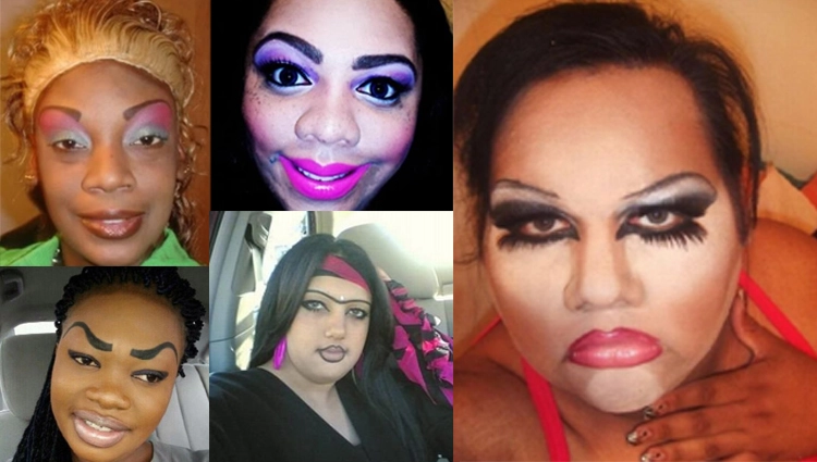 worst makeup photos