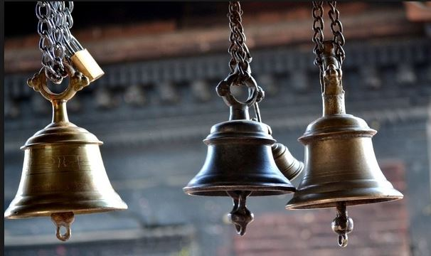 Why do Hindu temples have a bell
