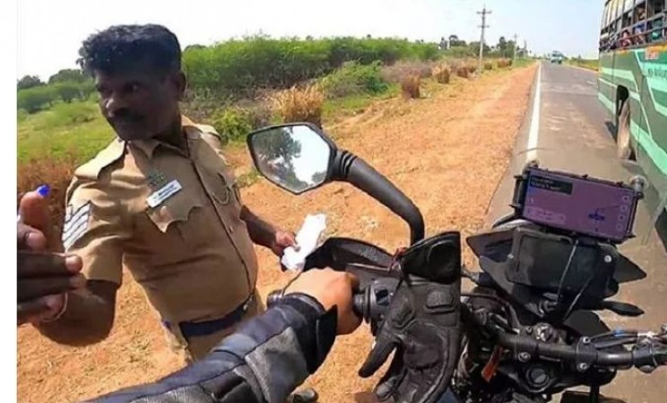 Stopped by Tamilnadu Cop For Reason You Cannot Guess