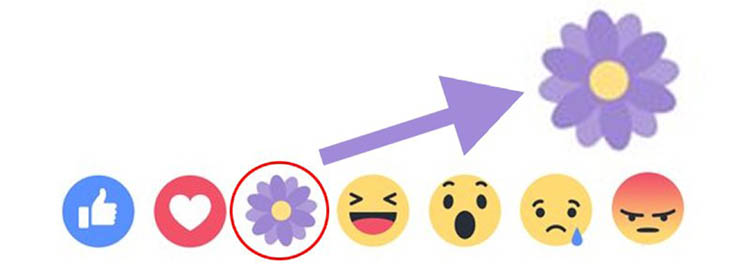 Mothers Day Facebook Creates New Flower Like Button