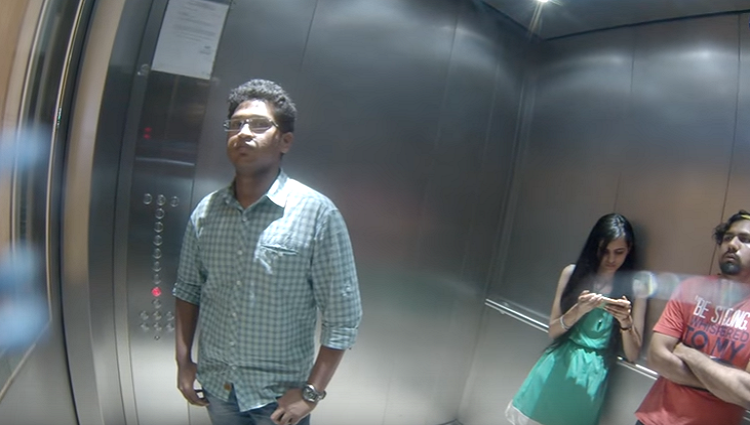 Porn Sounds in Elevator Prank