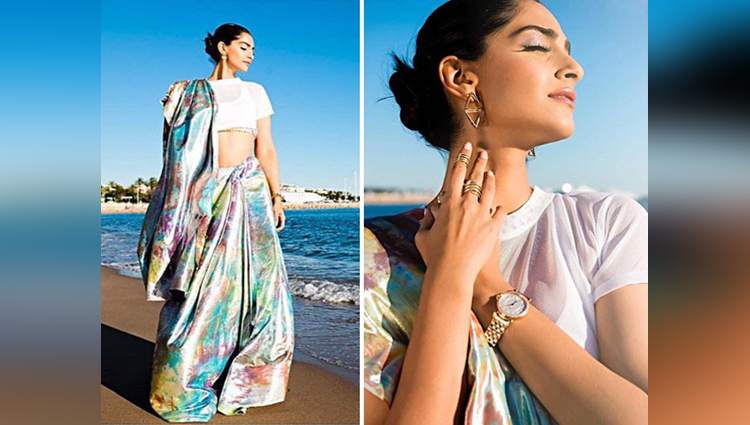 Sonam Kapoor share her first look at Cannes 2017