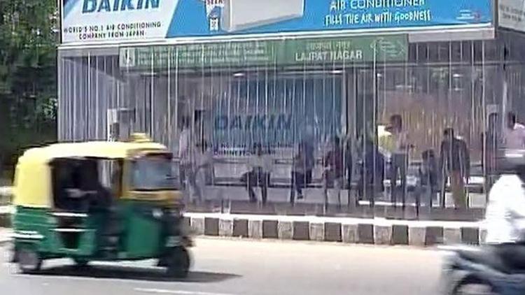 new delhi AC bus stop