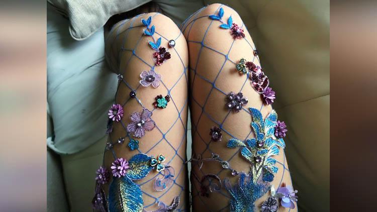 art fishnets tights lirika matoshi