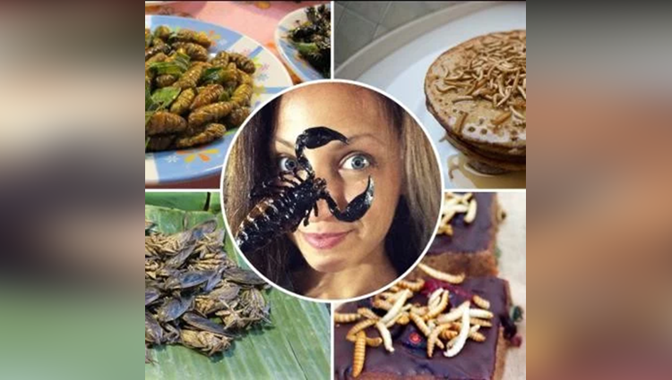 bulgarian girl eat insects
