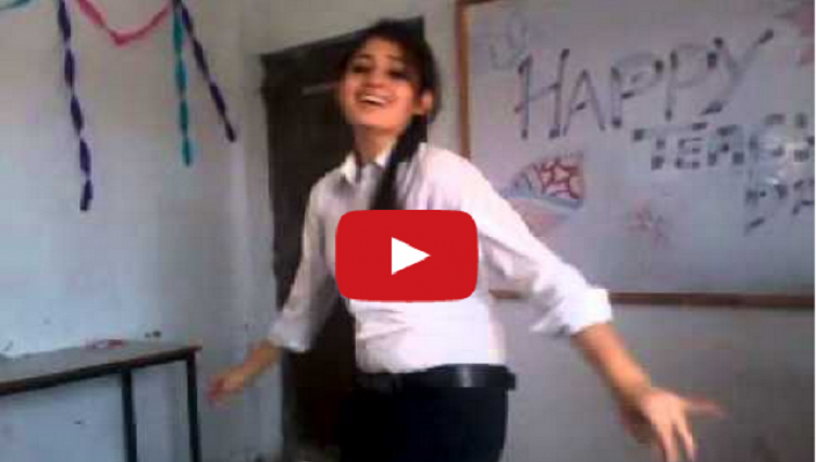 hot dance video of school girl