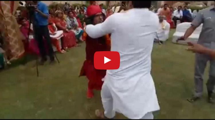 Swami OM thrashed in delhi