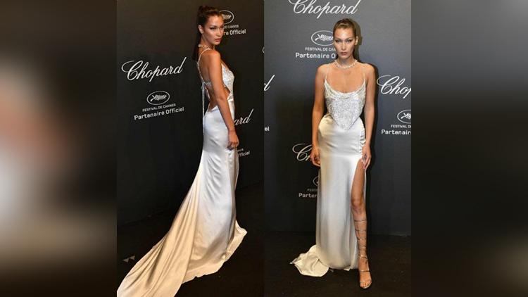 model bella hadid wears daring dress at cannes film festival
