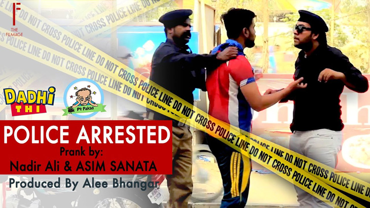 Police Arrested prank By Nadir Ali And Asim Sanata Ahmed Khan in P4 Pakao