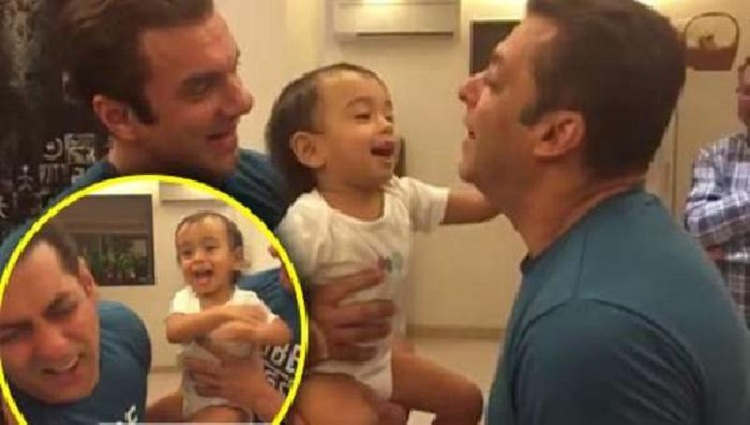 salman khan slapped by nephew ahil sharma video