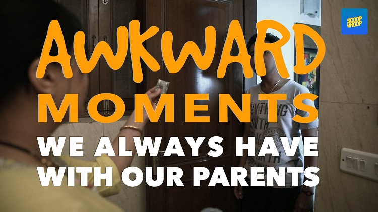 awkward moments we always have with our parents