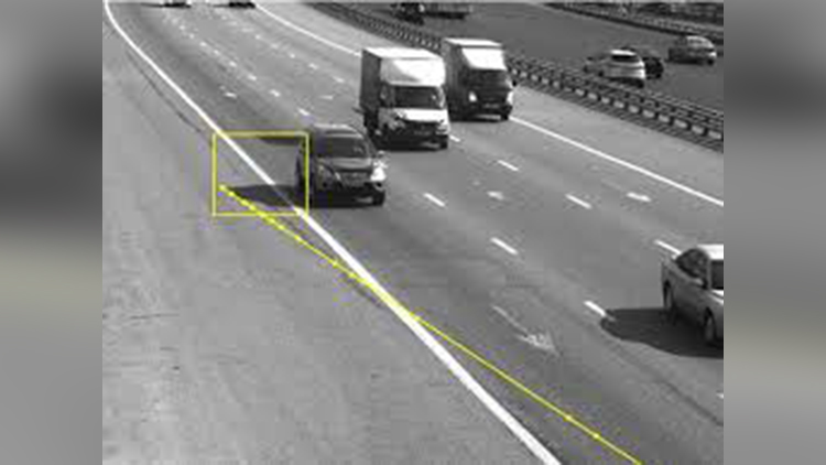 russian driver fined over his car shadow broke traffic rules