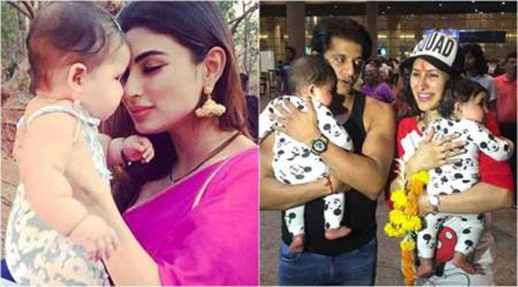 'Naagin 2' star Mouni enjoyed with the daughters of Karanvir Bohra