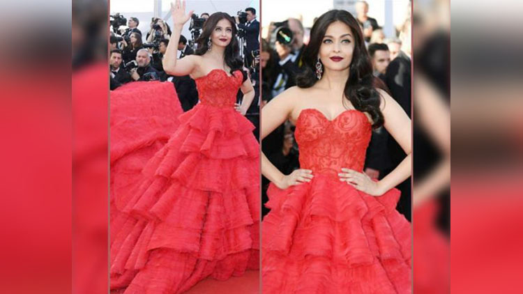 Aishwarya Broken The Rule Of Not Wearing Red Gown On Red Carpet
