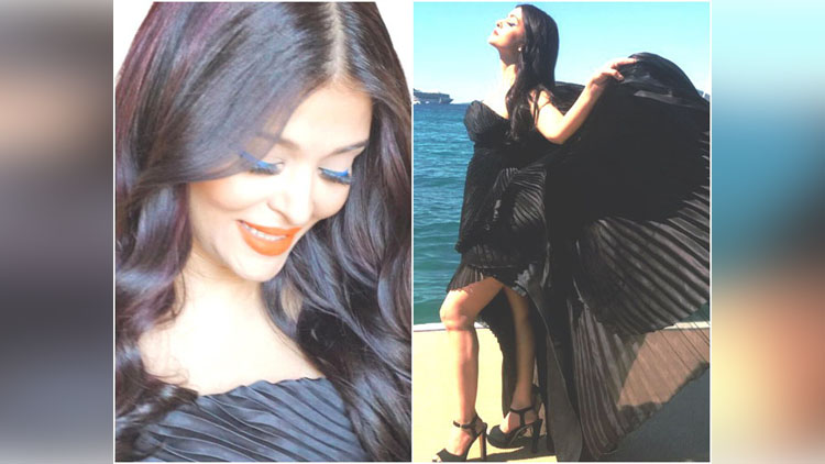 Aishwarya Rai Bachchan spreads her fashionable wings in black on Day 4