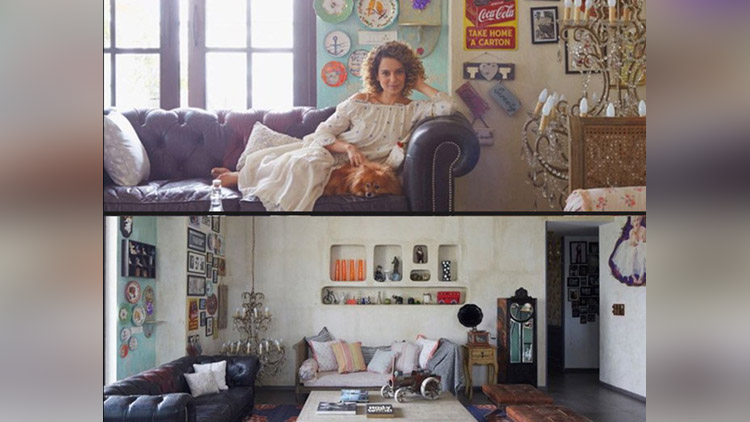 kangana ranaut inside home photos