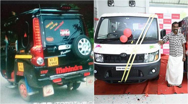 mahindra ceo anand mahindra gifted auto rickshaw driver in new four wheeler