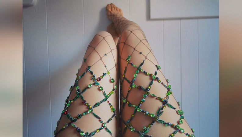 Embellished Fishnet Tights from Lirikas By Lirika Matoshi
