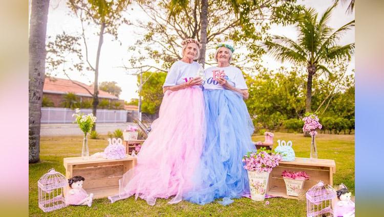 Photographer Captures Twins Celebrating Their 100th Birthday