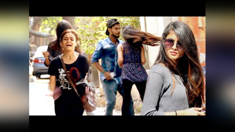 Black Magic on Cute Girls Scare Prank in India Street Swaggers