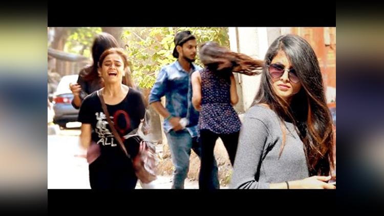 Black Magic on Cute Girls Scare Prank in India Street Swaggers