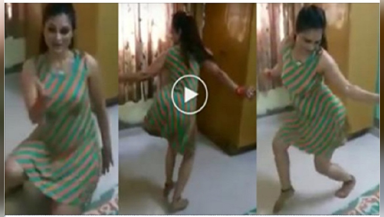 indian desi bhabhi hot dance on rajasthani song