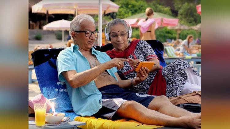 vodafone add couple Vannadil Pudiyaveettil Dhananjayan and Shanta Dhananjayan