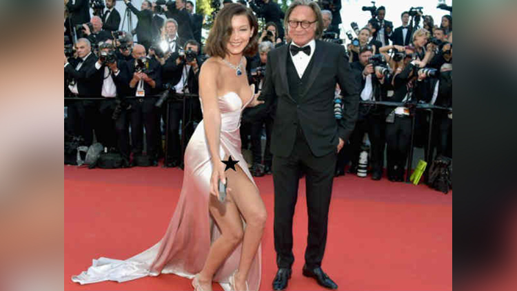 bella hadid oops moment at cannes 2017
