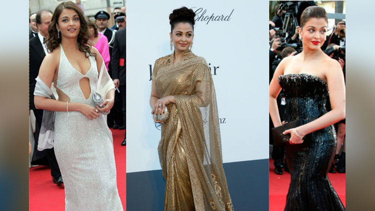 Throwback To Aishwarya Rai Bachchan's 15 Looks On The Red Carpet Of The Cannes Film Festival