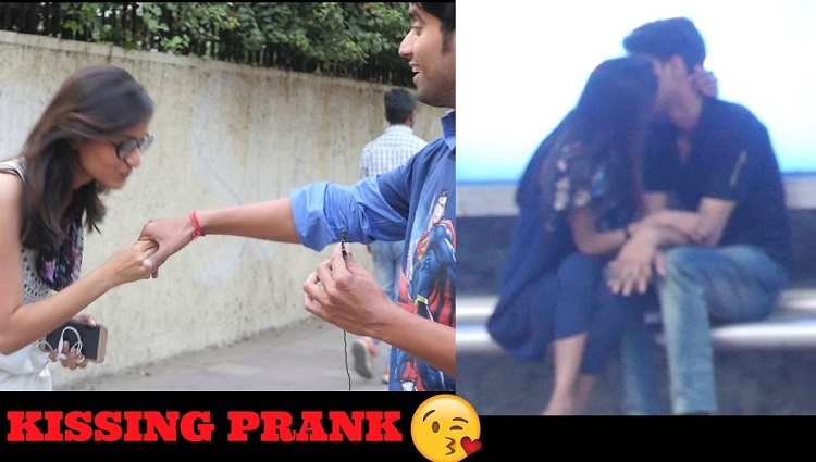 kissing prank in delhi | breaking news prank