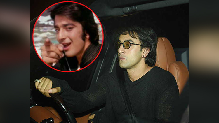 ranbir kapoor latest look for sanjay dutt biopic