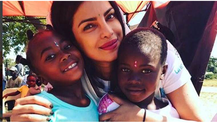 priyanka chopra meets youngsters in zimbabwe with unicef