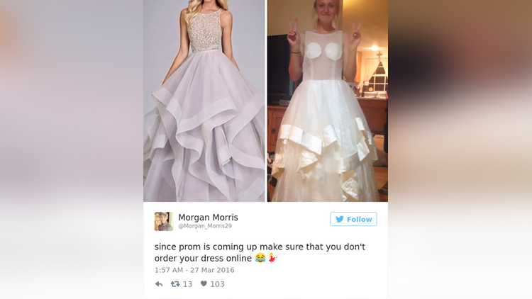 Teens Are Sharing Prom Dresses They Regret Buying Online