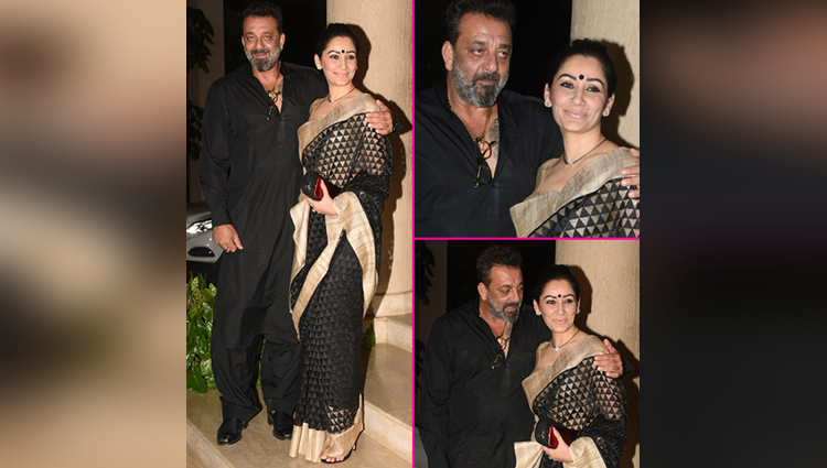 sanjay dutt and maanayata dutt party photos
