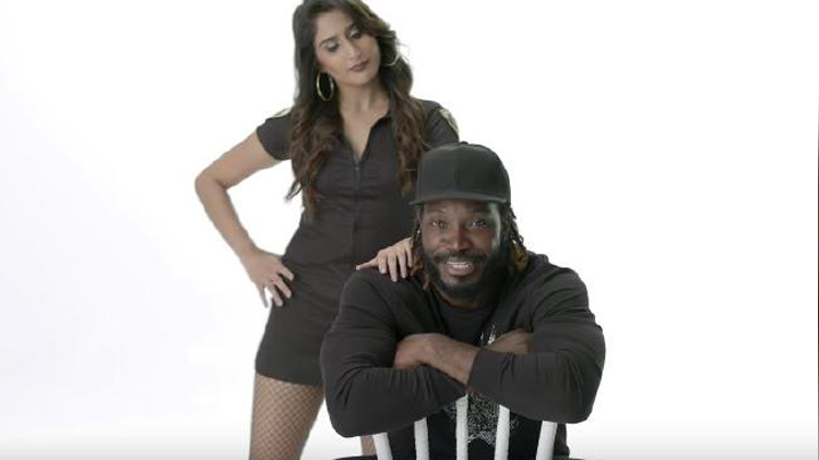 chris gayle condom add Don't blush baby