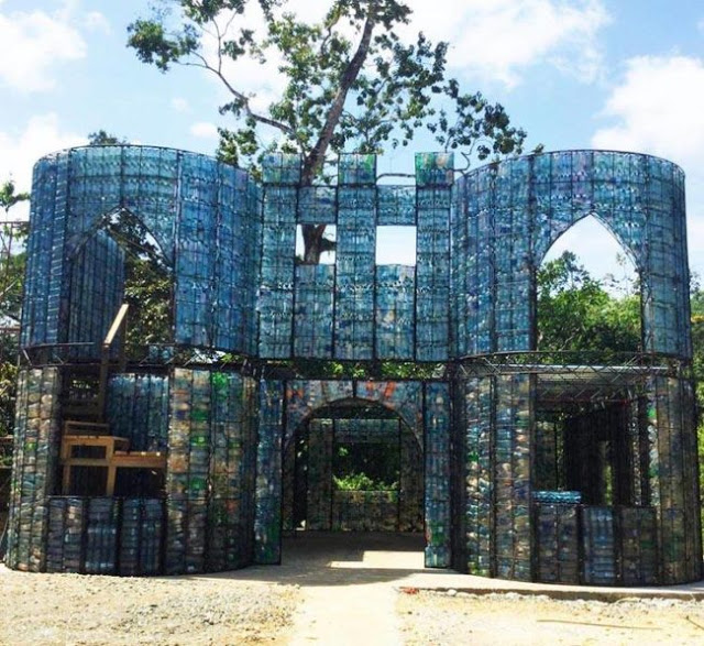 plastic bottle village in panama