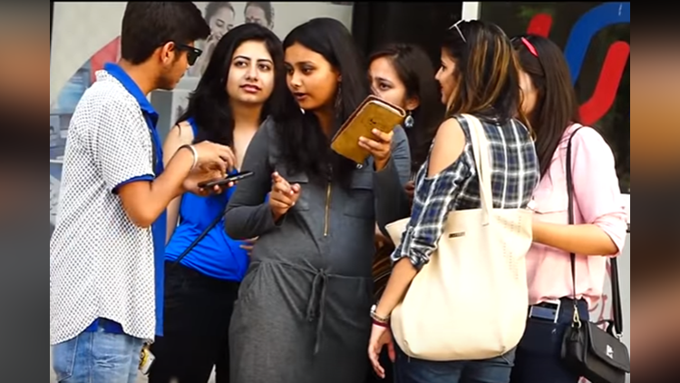 Asking Directions in Awkward Funny Language to Hot Girls Prank in India 2017 Sahil Sharma