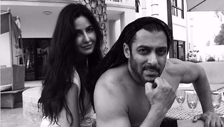 black and white pic of a shirtless salman khan and cool katrina kaif